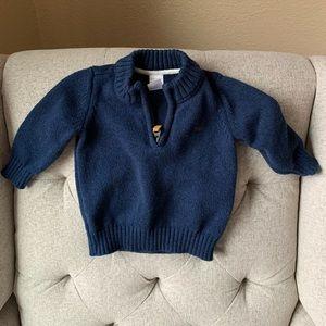 Carters Half Zip Baby Sweater